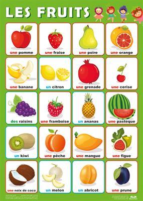 خرید پوستر میوه های فرانسه