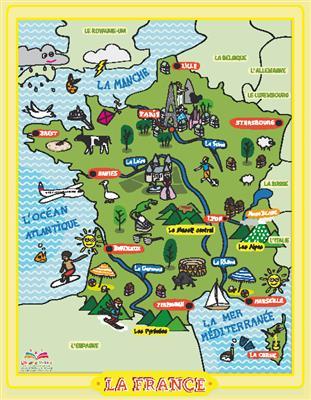 خرید پوستر نقشه فرانسه کودکان