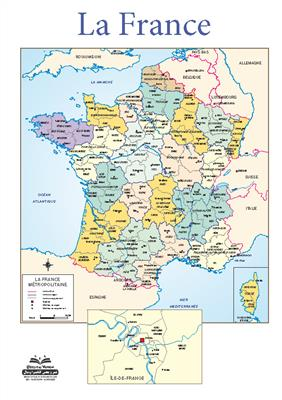 خرید پوستر نقشه فرانسه
