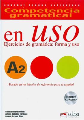 خرید کتاب اسپانیایی Competencia gramatical en USO A2+CD
