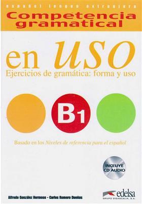 خرید کتاب اسپانیایی Competencia gramatical en USO B1+CD
