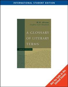 خرید کتاب انگليسی A Glossary of Literary Terms