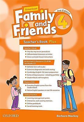 خرید کتاب انگليسی American Family and Friends 4 (2nd) Teachers book+CD+CD-ROM
