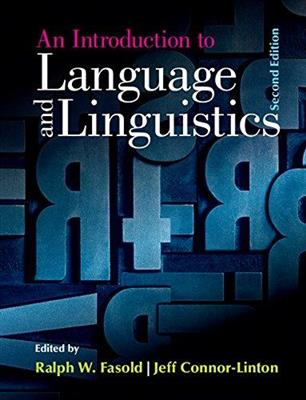 خرید کتاب انگليسی An Introduction to Language and Linguistics 2nd-Fasold