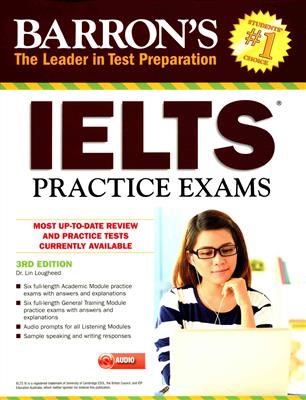 خرید کتاب انگليسی Barrons IELTS Practice Exams 3rd+CD