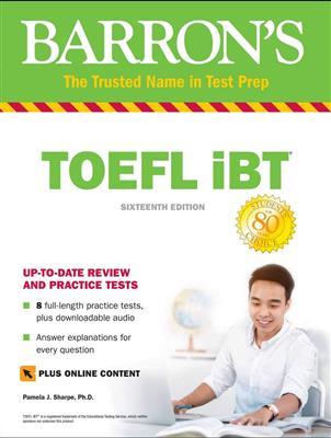 خرید کتاب انگليسی Barrons TOEFL iBT 16th +DVD