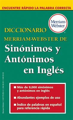 خرید کتاب انگليسی Diccionario Merriam-Webster de Sinonimos y Antonimos