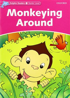 خرید کتاب انگليسی Dolphin Readers Starter:Monkeying Around(Story+WB)