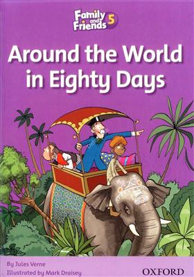 خرید کتاب انگليسی Family and Friends Readers 5 Around the World in Eighty Days
