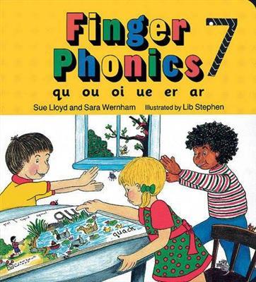 خرید کتاب انگليسی Finger Phonics qu ou oi ue er ar 7