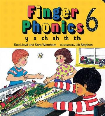 خرید کتاب انگليسی Finger Phonics y x ch sh th th 6