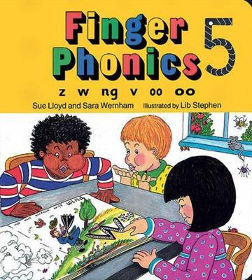 خرید کتاب انگليسی Finger Phonics z w ng v oo 5