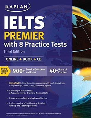 خرید کتاب انگليسی Kaplan IELTS Premier with 8 Practice Tests 3rd+CD