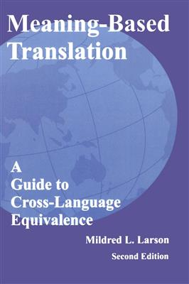 خرید کتاب انگليسی Meaning-based Translation 2nd