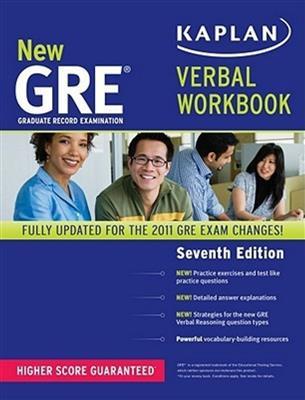 خرید کتاب انگليسی New GRE Verbal Workbook KAPLAN 7th