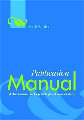 خرید کتاب انگليسی Publication Manual of the American Psychological Association 6th