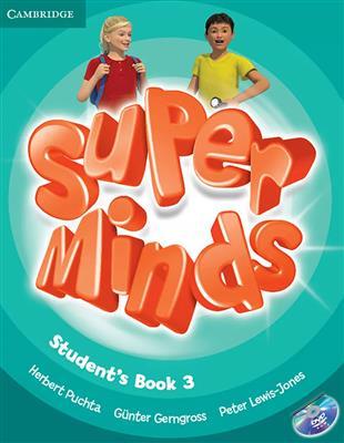 خرید کتاب انگليسی Super Minds 3 (SB+WB+CD+DVD)