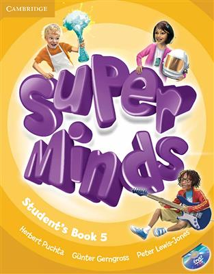 خرید کتاب انگليسی Super Minds 5 (SB+WB+CD+DVD)