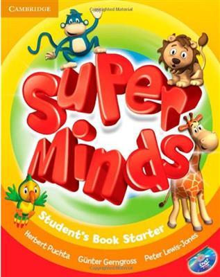 خرید کتاب انگليسی Super Minds Starter (SB+WB+CD+DVD)