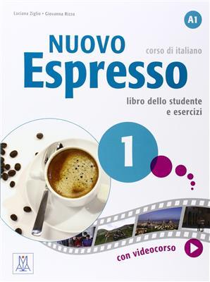 خرید کتاب ایتالیایی Nuovo Espresso: Libro Studente 1 + DVD