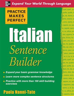خرید کتاب ایتالیایی Practice Makes Perfect Italian Sentence Builder