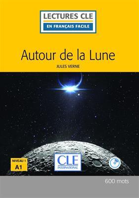 خرید کتاب فرانسه Autour de la lune - Niveau 1/A1 + CD - 2eme edition