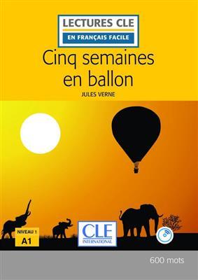 خرید کتاب فرانسه Cinq semaines en ballon - Niveau 1/A1 + CD - 2eme edition