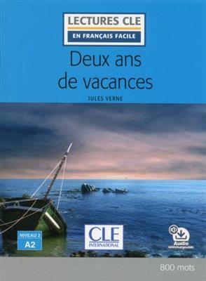 خرید کتاب فرانسه Deux ans de vacances - Niveau 2/A2 + CD