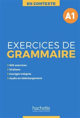 خرید کتاب فرانسه En Contexte - Exercices de grammaire A1 + CD + corrigés