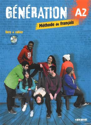 خرید کتاب فرانسه Generation 2 niv. A2 - Livre + Cahier + CD mp3 + DVD