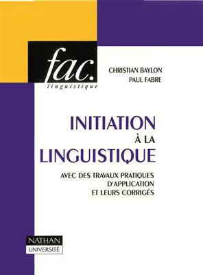 خرید کتاب فرانسه Initiation a la linguistique