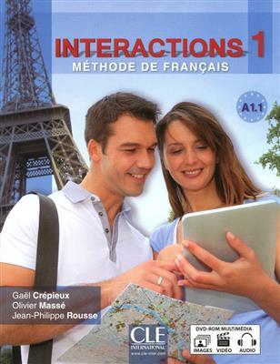 خرید کتاب فرانسه Interactions 1 - Methode de Francais A1.1 + DVD