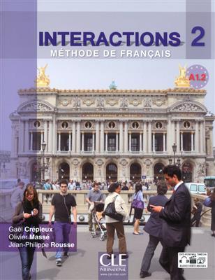 خرید کتاب فرانسه Interactions 2 - Niveau A1.2 - Livre de l'élève + DVD Rom