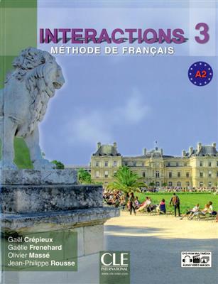 خرید کتاب فرانسه Interactions 3 - Niveau A2 - Livre de l'élève + DVD Rom