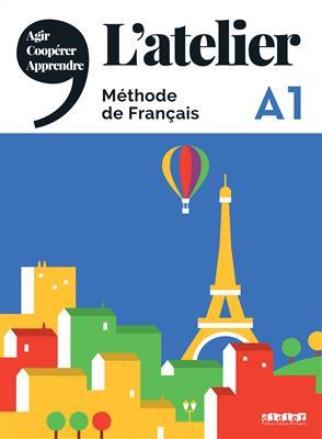 خرید کتاب فرانسه L'atelier niv .A1 + cahier + DVD