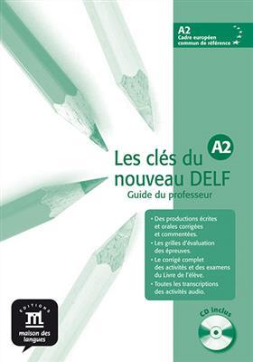 خرید کتاب فرانسه Les clés du nouveau DELF A2 – Guide pédagogique + CD audio