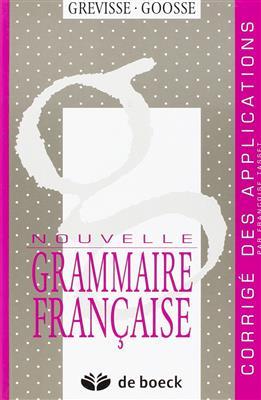 خرید کتاب فرانسه NOUVELLE GRAMMAIRE FRANCAISE. Corrige des applications