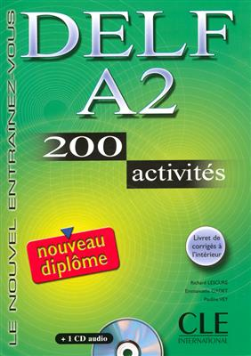 خرید کتاب فرانسه Nouveau DELF - Niveau A2 - Livre + CD