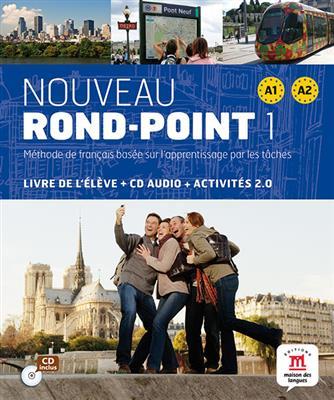 خرید کتاب فرانسه Nouveau Rond-Point 1 + Cahier + CD audio