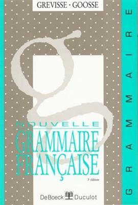 خرید کتاب فرانسه Nouvelle grammaire française - Grevisse