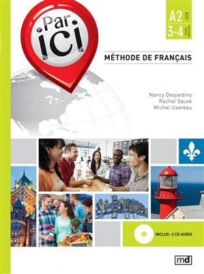 خرید کتاب فرانسه PAR ICI – NIVEAU A2 / 3‑4 + CD