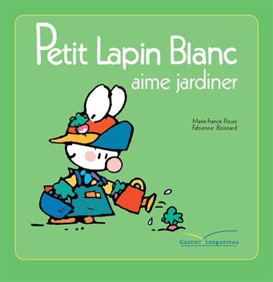 خرید کتاب فرانسه Petit lapin blanc aime jardiner