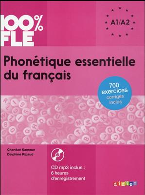 خرید کتاب فرانسه Phonetique essentielle du français niv. A1 A2 + CD 100% FLE