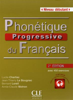 خرید کتاب فرانسه Phonetique progressive du français - debutant + CD - 2eme edition