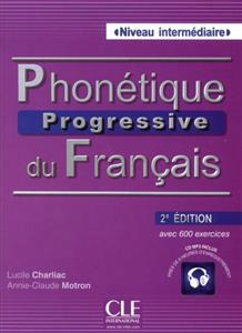 خرید کتاب فرانسه Phonetique progressive - intermediaire + CD - 2eme edition