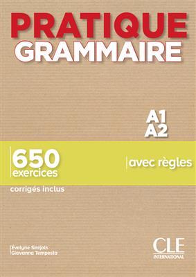خرید کتاب فرانسه Pratique Grammaire - Niveaux A1/A2 - Livre + Corrigés