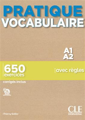 خرید کتاب فرانسه Pratique Vocabulaire - Niveaux A1/A2 - Livre + Corrigés + Audio en ligne