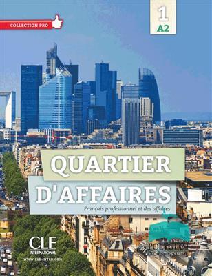 خرید کتاب فرانسه Quartier d'affaires 1 - Niveau A2 - Livre+Cahier+DVD