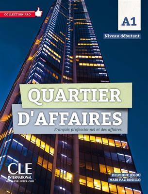 خرید کتاب فرانسه Quartier d'affaires - Niveau A1 - Livre + Cahier + DVD