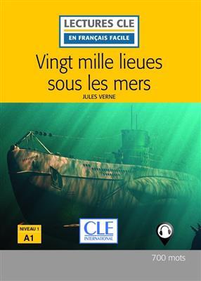 خرید کتاب فرانسه Vingt mille lieues sous les mers - Niveau 1 / A1 + CD 2eme edition